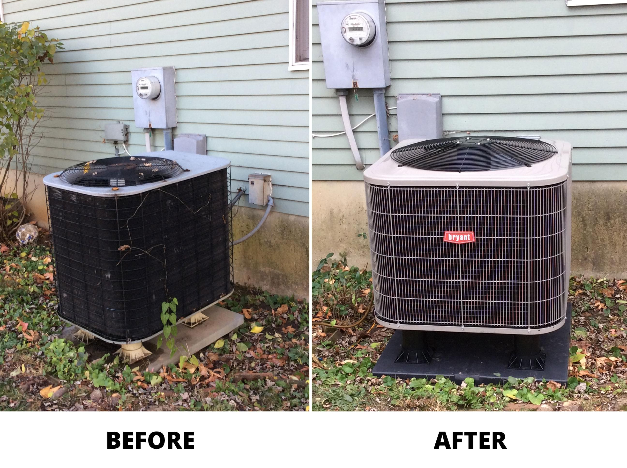 How To Install A Heat Pump Installation Images And Photo Gallery For Jfk Heating And Cooling